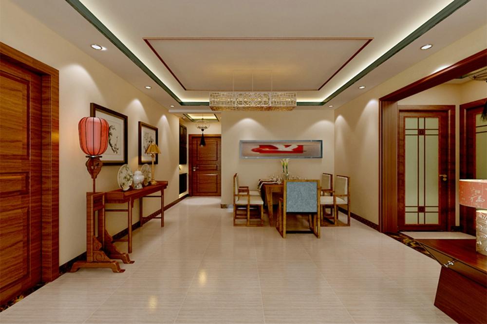 三居 简约 中式 餐厅图片来自石家庄业之峰装饰虎子在国赫红珊湾 119平米新中式风格的分享