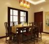 门窗对确定中式风格很重要,因中式门窗一般均是用棂子做成方格或其它中式的传统图案,用实木雕刻成各式题材造型,打磨光滑,富有立体感。天花做简单的环形的灯池吊顶,用实木做框,层次清晰,漆成花梨木色。