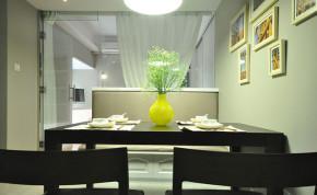 简约 现代 小清新 餐厅 餐厅图片来自成都幸福魔方装饰工程有限公司在萦绕心头那一抹抹绿的分享