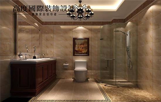 三居 新中式 装修 设计 卫生间图片来自高度老杨在四合上院 三室两厅两卫 新中式的分享