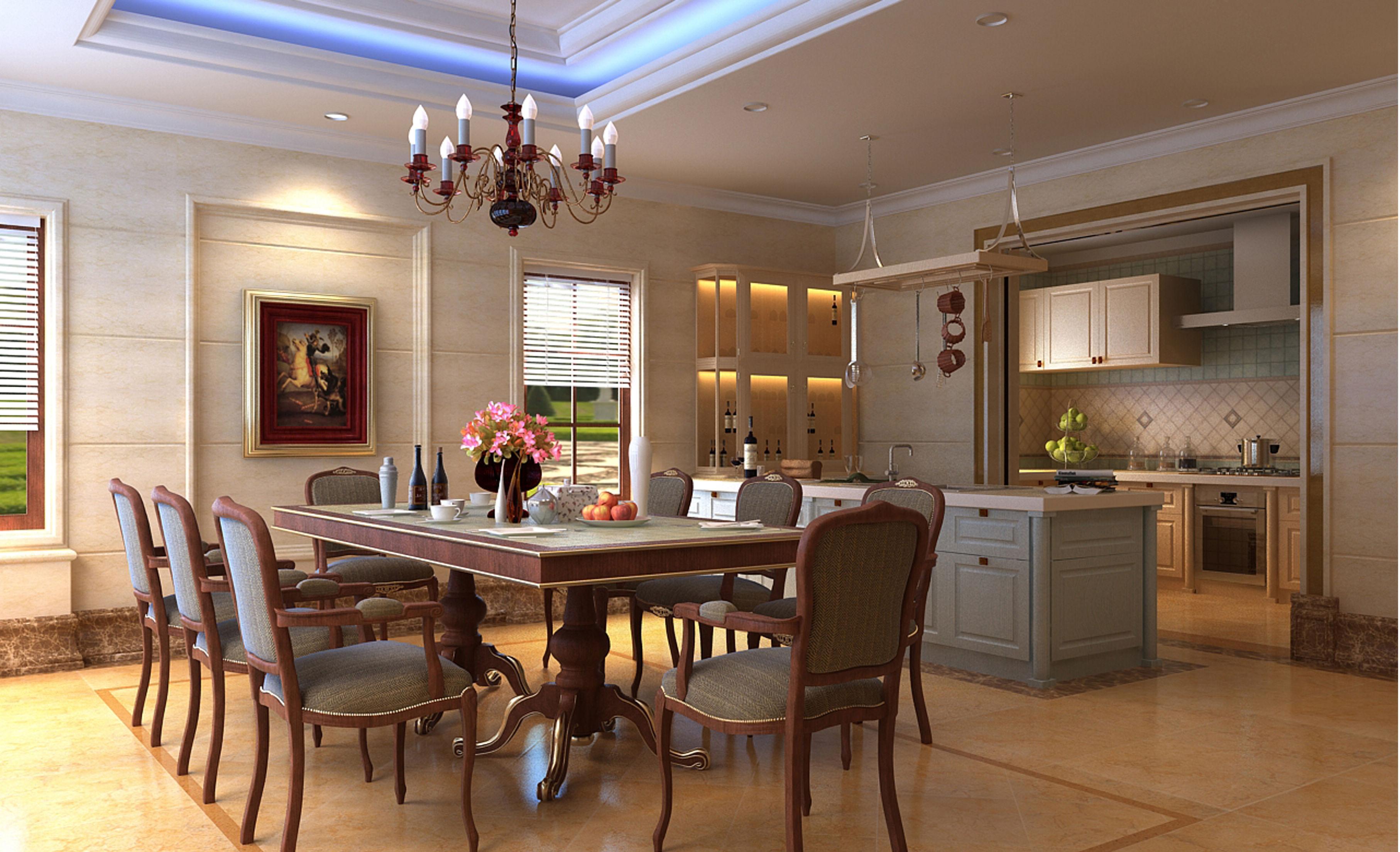 简约 欧式 餐厅图片来自框框在康城花园 简欧风格别墅设计的分享