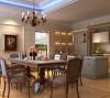 餐厅的总体布局是通过交通空间、使用空间、工作空间等要素的完美组织所共同创造的一个整体,最重要的就是要先考虑实用性,在满足了这个基础上再配置一些家具用品等就能使房间更加美观和舒适。