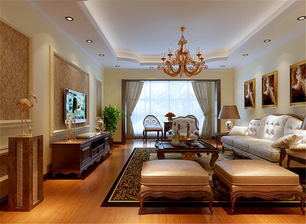 欧式 别墅 白领 收纳 80后 小资 客厅图片来自实创装饰完美家装在西棕榈滩151平简欧风格案例赏析的分享