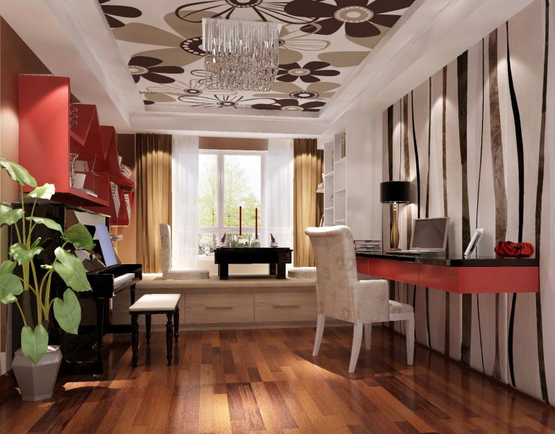 三居 现代 高度国际 卧室 旧房改造 混搭 空间 书房图片来自高度国际装饰王伟在金色漫香苑案例的分享