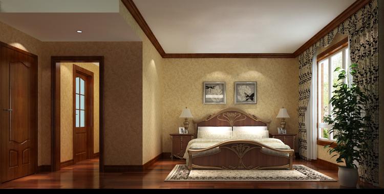 欧式 简约 三居 旧房改造 小资 卧室图片来自高度国际装饰王伟在金色漫香苑140平米简欧的分享