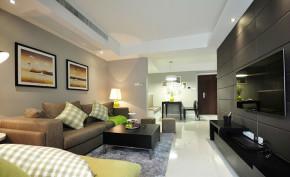 简约 现代 小清新 客厅 客厅图片来自成都幸福魔方装饰工程有限公司在萦绕心头那一抹抹绿的分享