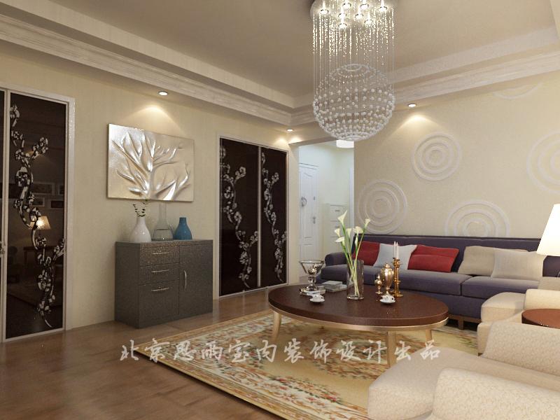 简约 旧房改造 二居 客厅图片来自思雨易居设计在【原创】75平现代简约风的分享