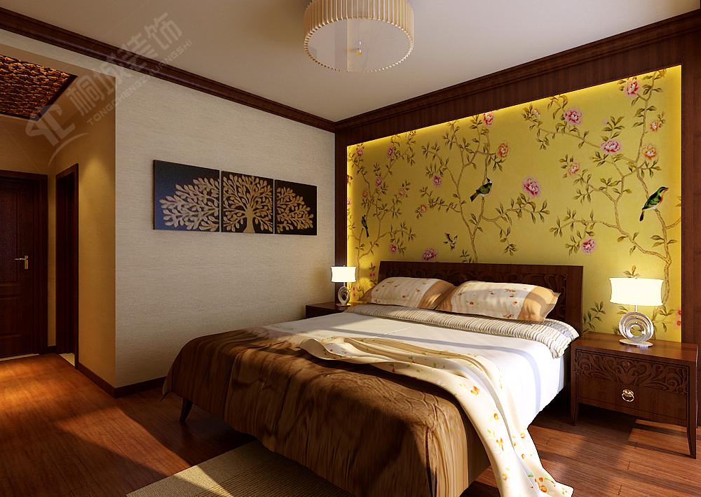 中式 三居 白领 小资 卧室图片来自桐城装饰城城在中海观园  中式风格的分享