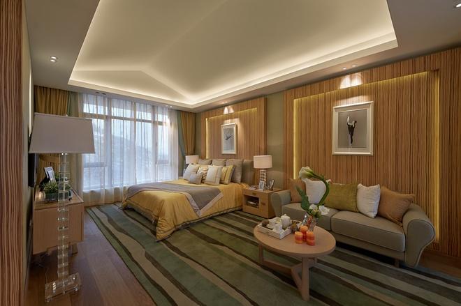 卧室图片来自家装大管家在温暖自在空间 346平现代简约别墅的分享