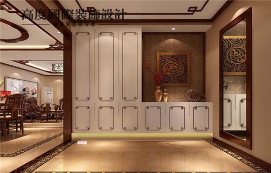 三居 新中式 装修 设计 玄关图片来自高度老杨在四合上院 三室两厅两卫 新中式的分享