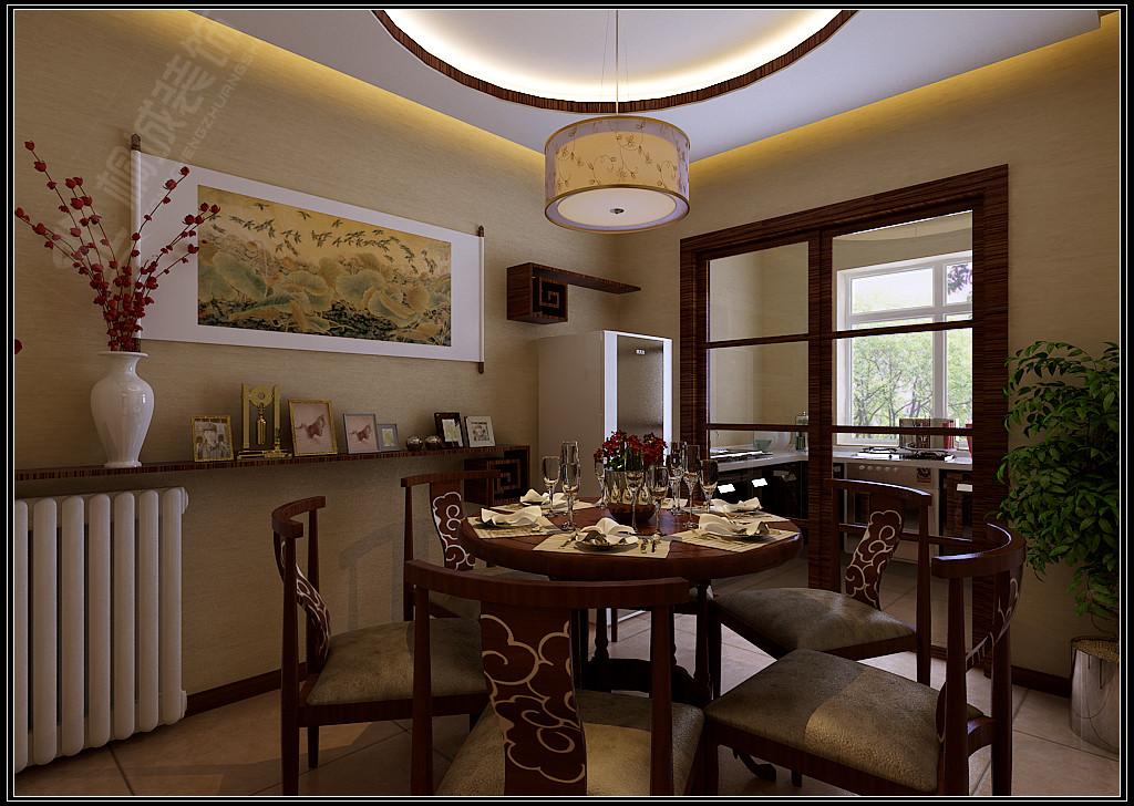 中式 三居 白领 小资 餐厅图片来自桐城装饰城城在中海观园  中式风格的分享