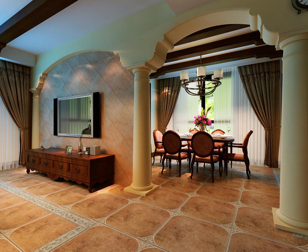 美式 三居 白领 收纳 旧房改造 餐厅图片来自富有世纪装饰河南公司在美式风格的分享