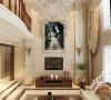 因为是别墅在客厅有一个很大的挑空空间,这个空间首先给客厅提供了足够的空间和采光。为契合户主对装修的要求,在整个客厅的设计上采取了简洁大气的石材造型,再加以简洁的线条使之不单调。
