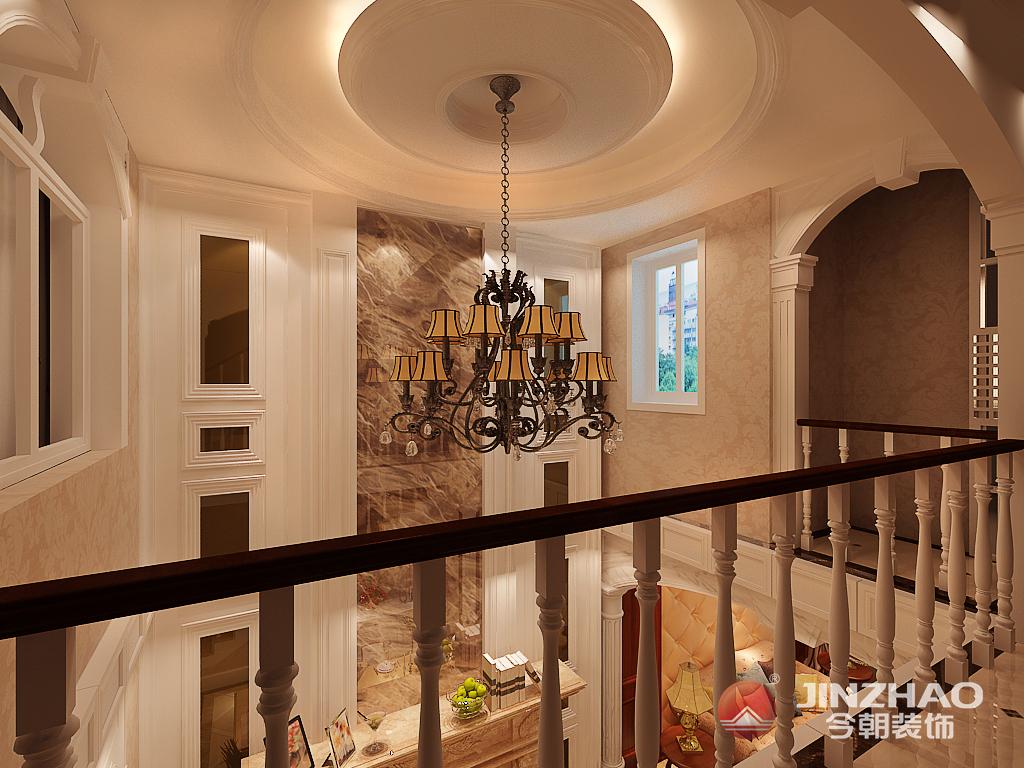 天津 今朝 装饰 设计 美式 别墅 龙湾城 楼梯图片来自今朝小涵_在龙湾城别墅240㎡现代美式的分享