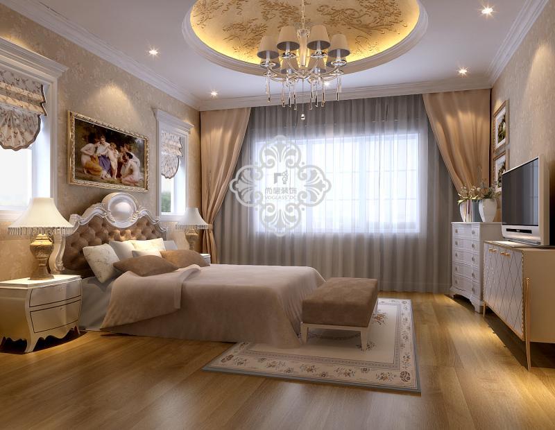 欧式 简欧风格 别墅装修 别墅设计 卧室图片来自天津别墅装修公司在呈现贵族般品味,豪华舒适的欧式的分享