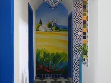 北郊庄园210平地中海大胆设计