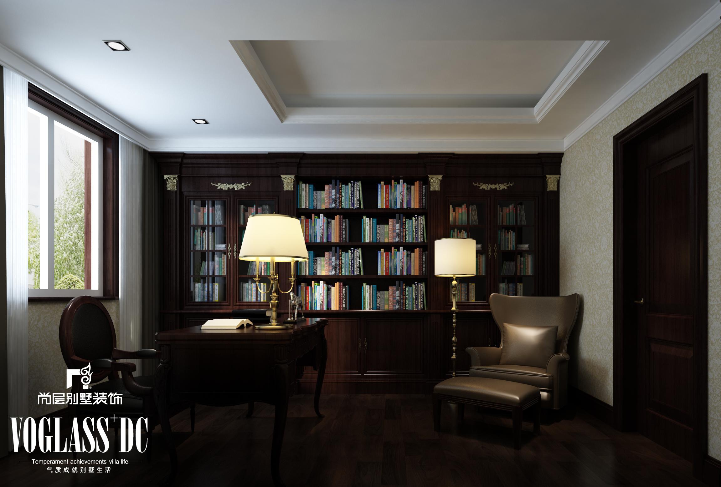 别墅 二居 三居 书房图片来自天津尚层装修韩政在博轩园的分享