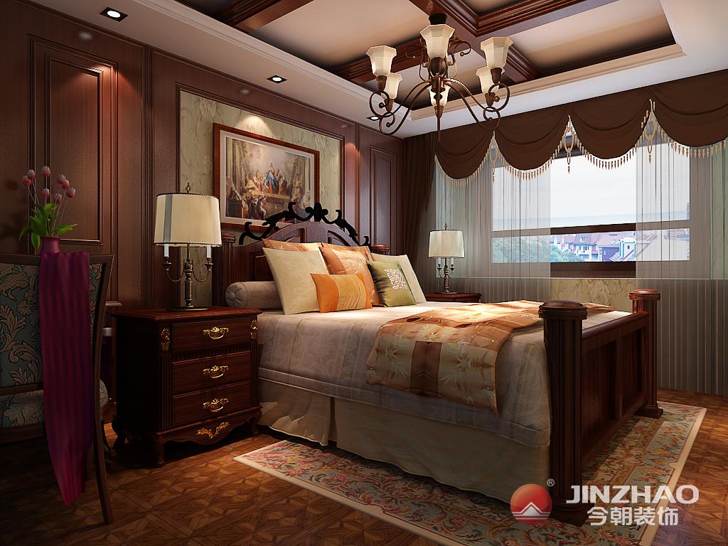 天津 今朝 装饰 设计 美式 别墅 龙湾城 卧室图片来自今朝小涵_在龙湾城别墅240㎡现代美式的分享