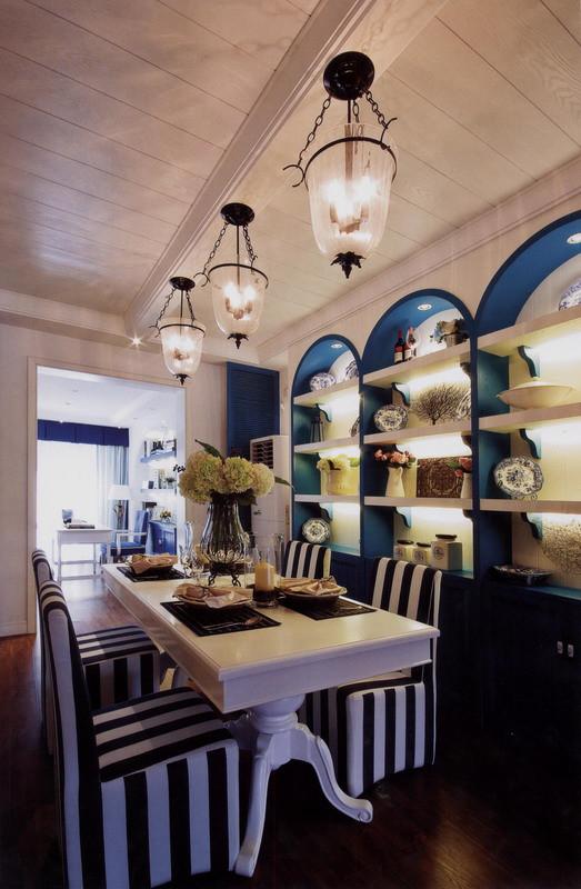 地中海风格餐厅装修实景图