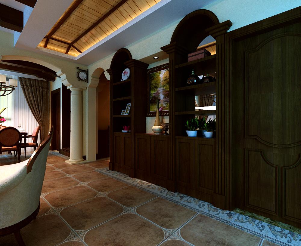 美式 三居 白领 收纳 旧房改造 玄关图片来自富有世纪装饰河南公司在美式风格的分享