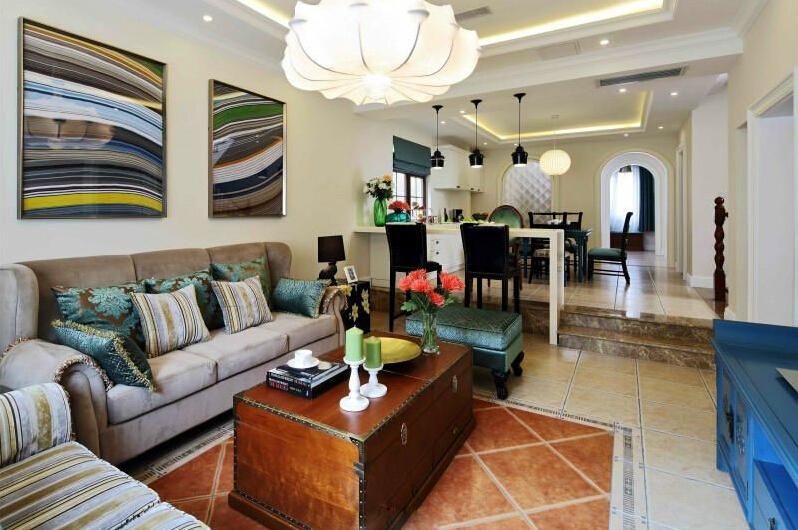 客厅图片来自tjsczs88在首创装饰-中信公园城法式风情的分享