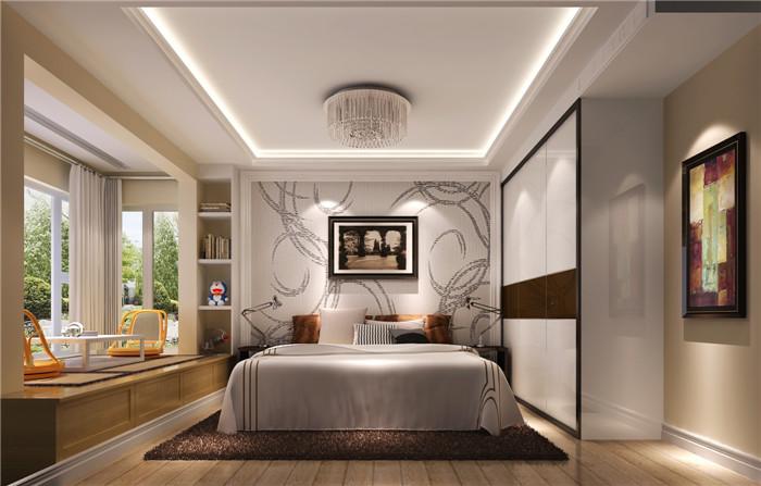 现代 卧室图片来自高度国际宋书培在富力惠兰美居 100平米装饰效果图的分享