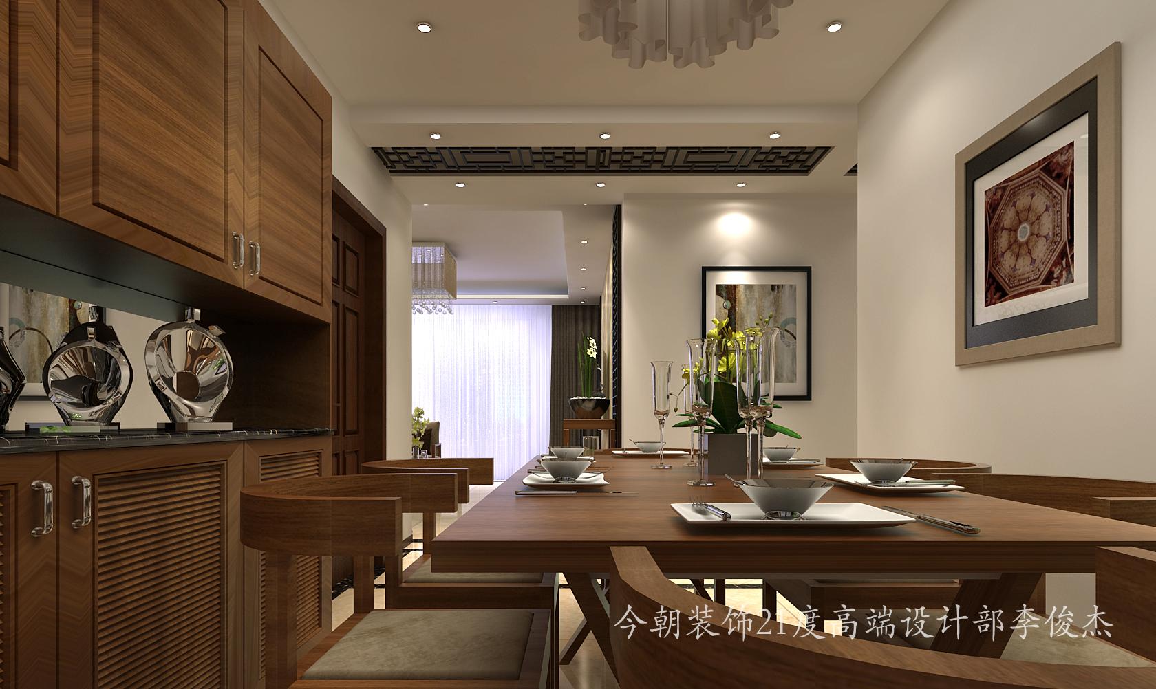 天津 今朝 装饰 设计 新中式 三居室 静海 静屿海 餐厅图片来自今朝小涵_在静屿海引领新中式的分享