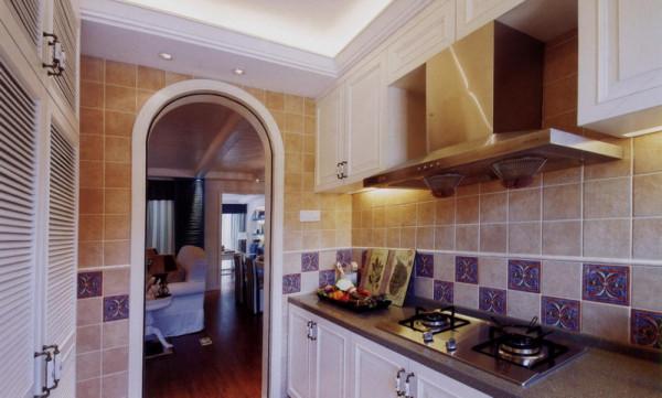 地中海风格厨房装修实景图