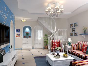 复式楼-清新地中海风格