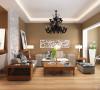 客厅采用咖啡色乳胶漆营造温馨柔和的感觉,柔软的抱枕,使空间雅致、干净、大气,在温暖的的灯光下享受休憩的时光。