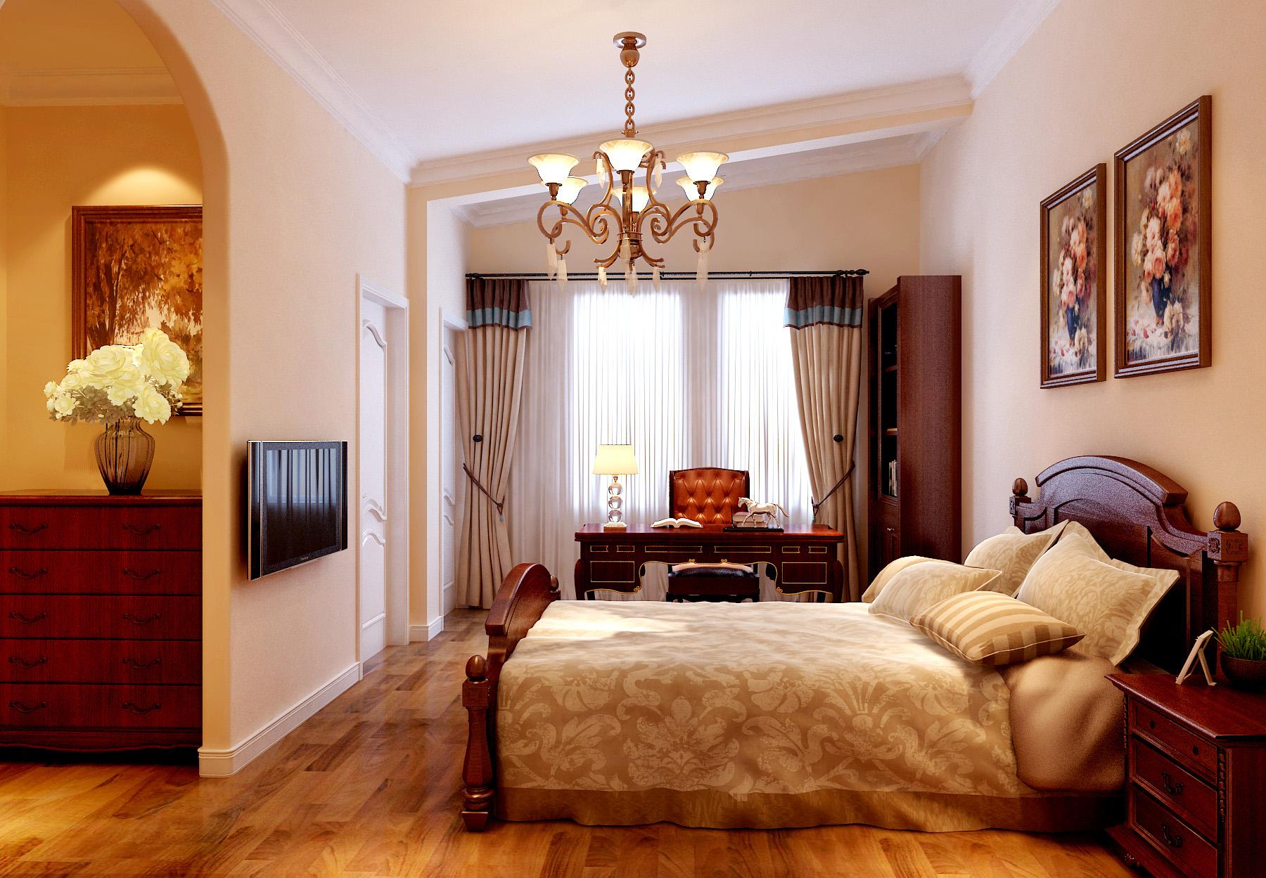 欧式 别墅 卧室图片来自北京今朝装饰刘在首创国际半岛欧式装饰设计的分享