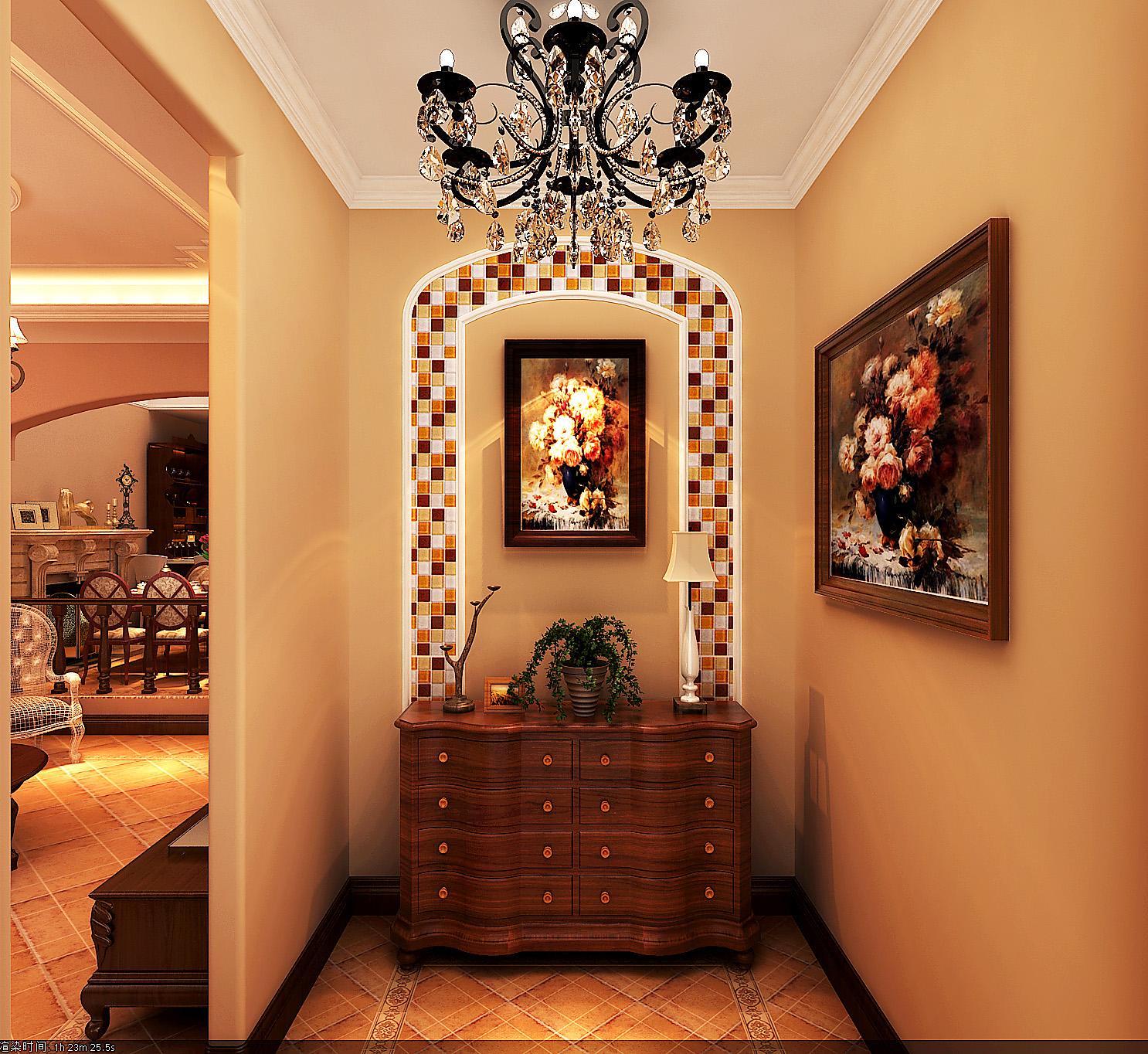 欧式 别墅 玄关图片来自北京今朝装饰刘在首创国际半岛欧式装饰设计的分享