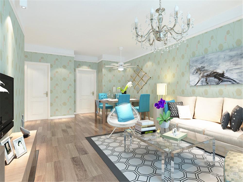 简约 二居 旧房改造 收纳 白领 别墅 80后 小资 客厅图片来自阳光力天装饰梦想家更爱家在天房意境2室1厅1卫1厨 112.00㎡的分享