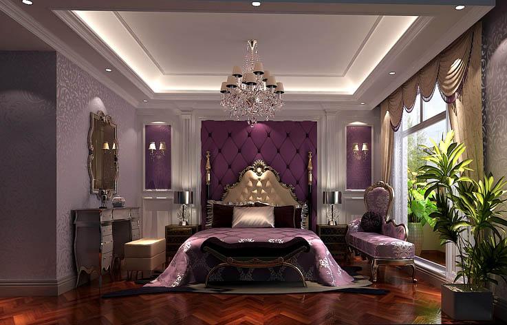 奢华欧式 卧室图片来自高度国际宋书培在珠江四季悦城三居室装饰效果图的分享