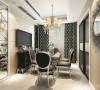 主要在创造一个后现代奢华主义的家居氛围,从而来体现住宅形式的尊贵性和独一无二性。大胆的利用了材质、灯光等元素的融会贯通,复古式的高贵华丽与最新国际时尚巧妙结合,强调了空间里的意境创造。