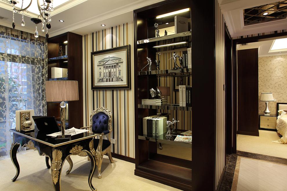 三居 古典 家庭装修 阿拉奇设计 书房图片来自阿拉奇设计在新古典家庭装修的分享