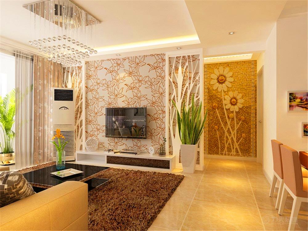 客厅图片来自阳光力天装饰梦想家更爱家在渤海明珠 简约 89㎡的分享