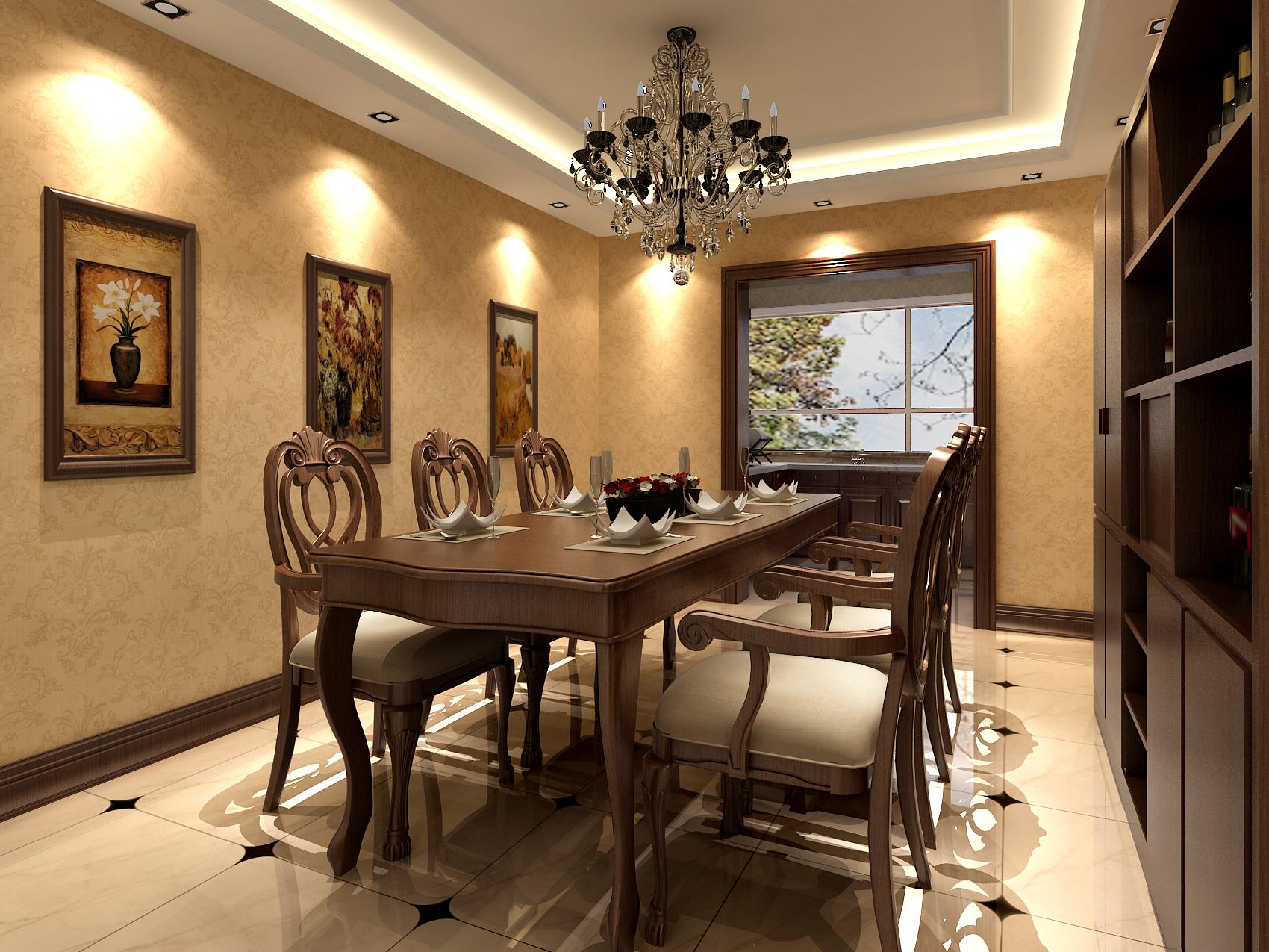 餐厅图片来自今朝装饰小徐在蓝天家园 210平欧式风格的分享