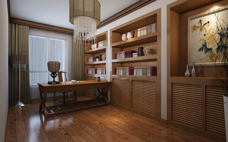新中式 三居 80后 小资 白领 简约 书房图片来自天津实创装饰集团l在远洋风景 最具有韵味的新中式的分享