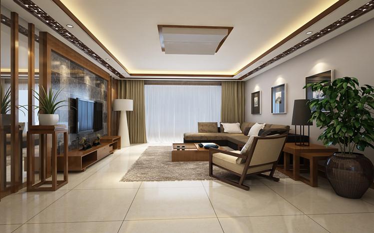 新中式 三居 80后 小资 白领 简约 客厅图片来自天津实创装饰集团l在远洋风景 最具有韵味的新中式的分享