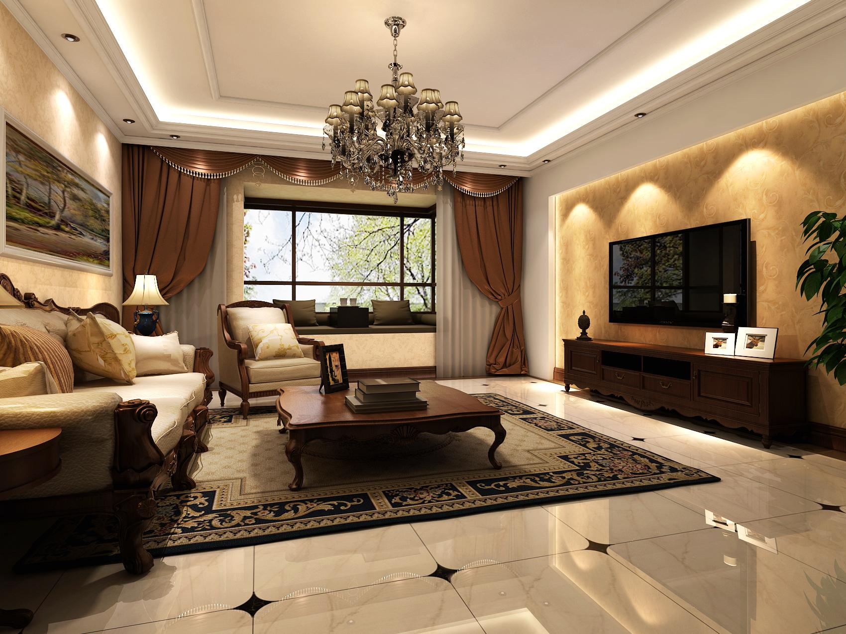 客厅图片来自今朝装饰小徐在蓝天家园 210平欧式风格的分享