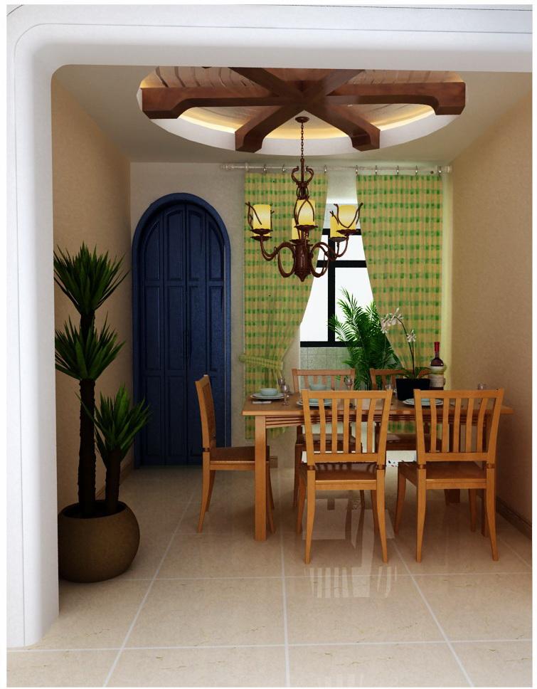 地中海 三居 收纳 小资 餐厅图片来自刘建勋在地中海风格装饰雅居的分享