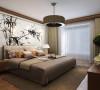 本案充分了解业主需求,把现代装饰手法和中式风格的韵味演绎几近完美。最具有中国特色的水墨壁纸,增添在卧室这个空间里,让现代中式风格在这理完美呈献。