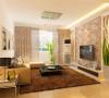 客厅设计采用简约明朗的线条,将空间进行了合理的分隔。壁纸和灯光采用暖色调,让业主可以释放工作中的压力,得到纯粹的放松。