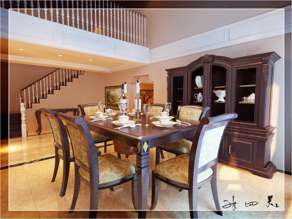 别墅装修 餐厅图片来自天津别墅装修在首创福特纳湾1的分享
