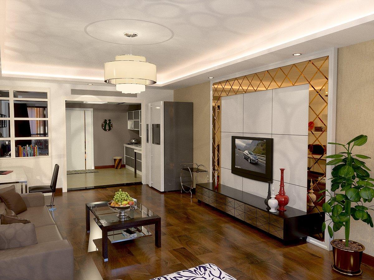 欧式 客厅图片来自鱼在轻舟在华贸城-32平-现代简欧风格的分享