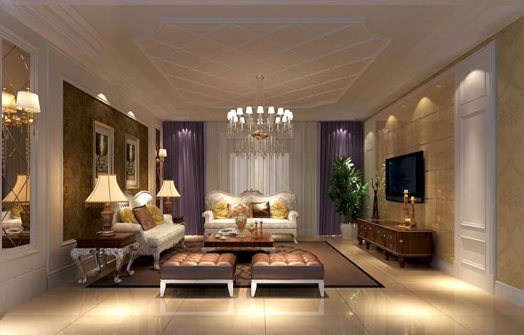 简欧 客厅图片来自高度国际宋书培在绿地国宝21城 别墅装饰效果图的分享