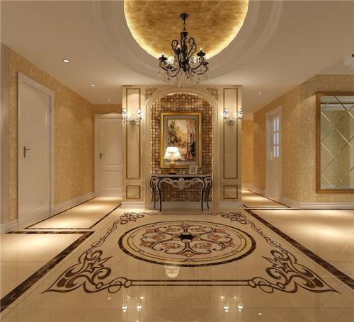 玄关图片来自高度国际装饰王伟在华侨城 欧式风格鉴赏的分享