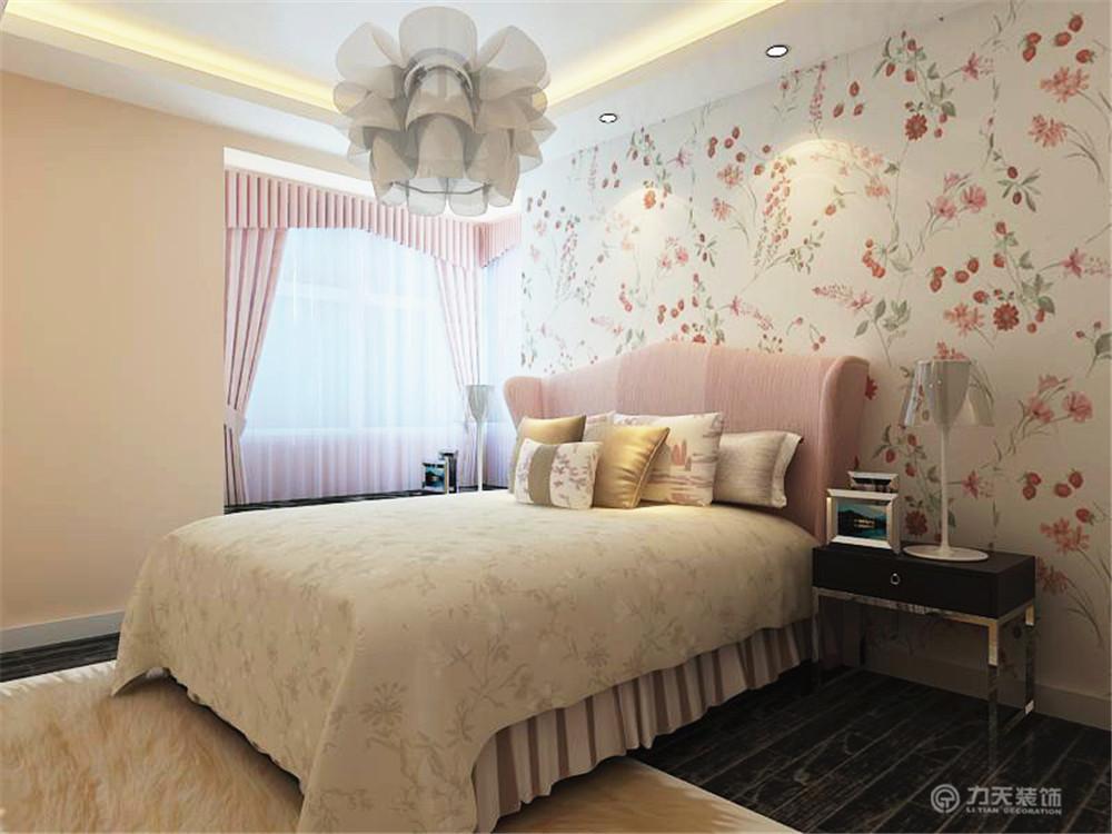 田园 二居 白领 收纳 80后 小资 卧室图片来自阳光力天装饰在亚泰津澜-92.12㎡-田园风格的分享