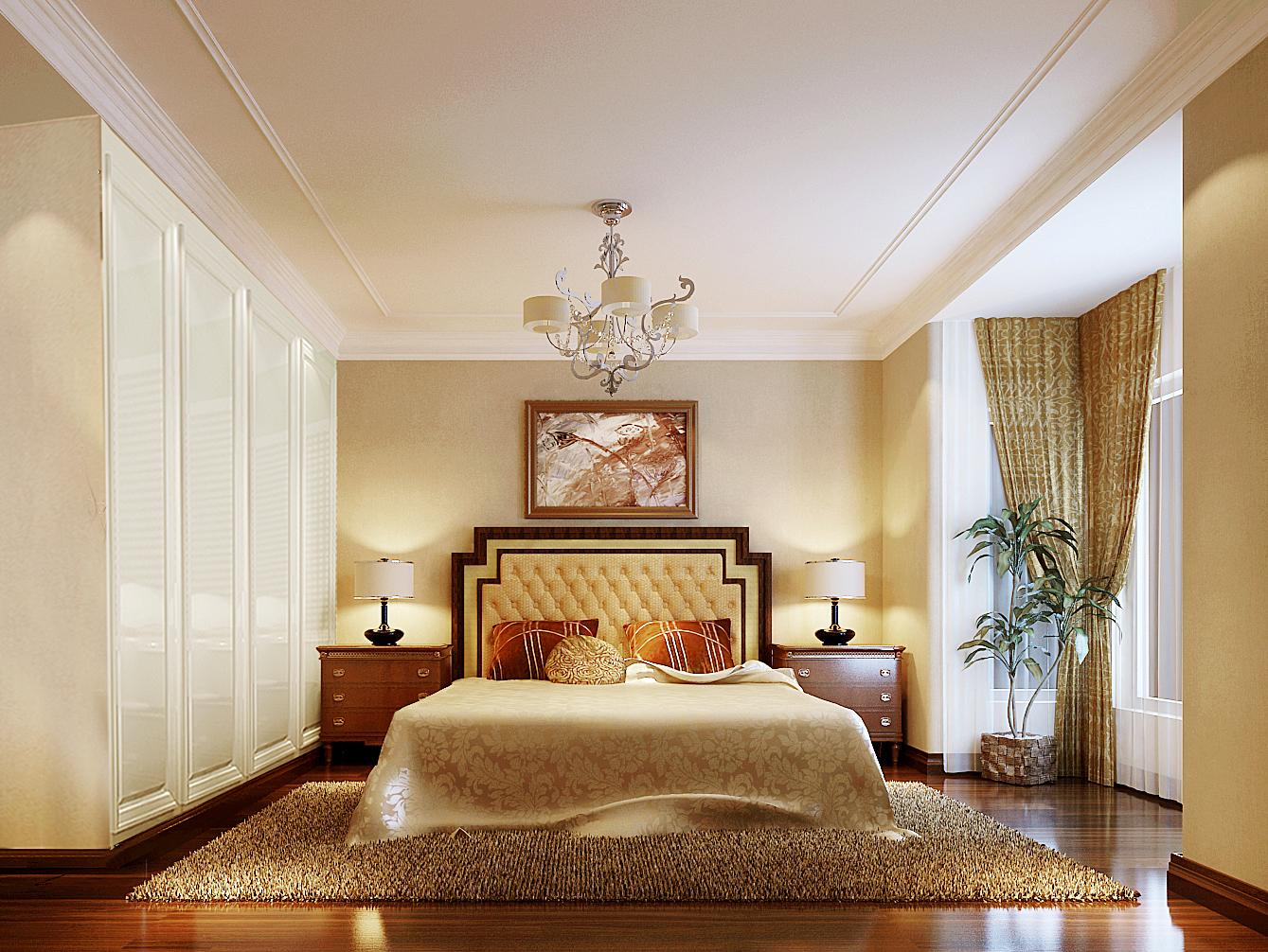 简约 三居 公寓 80后 小资 卧室图片来自黑白昼夜循环丶在东湖湾129平简约风格设计案例的分享